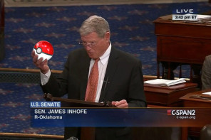 Sen. Jim Inhofe Can Hold Lots of Things